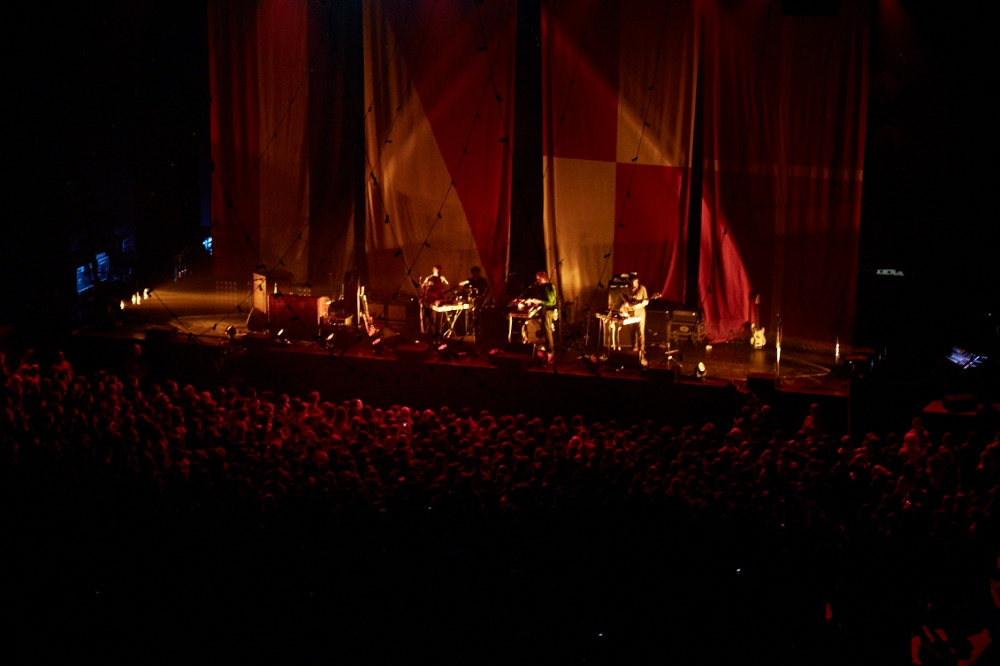 Performing at the O2 Arena with Post War Years, supporting Mumford & Sons.